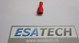 kabelschoen PRR1541,6,3x0,8 mm*rood,volledig geisoleerd,female per 10 st.