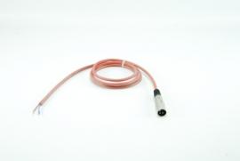 Siliconensnoer 1,5 meter met XLR plug