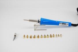 Houtbrandpen/soldeerbout  IFA PRO W05 30W 230V met piepschuim snijder/mes
