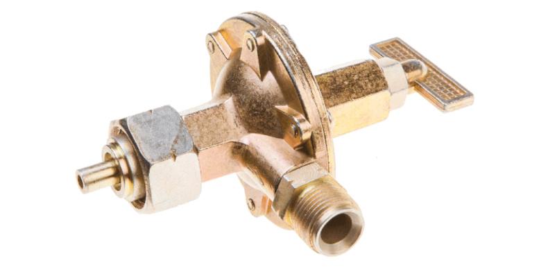 Topex drukregelaar 44e130 met een instelbaar vermogen van 0 tot 4 bar.