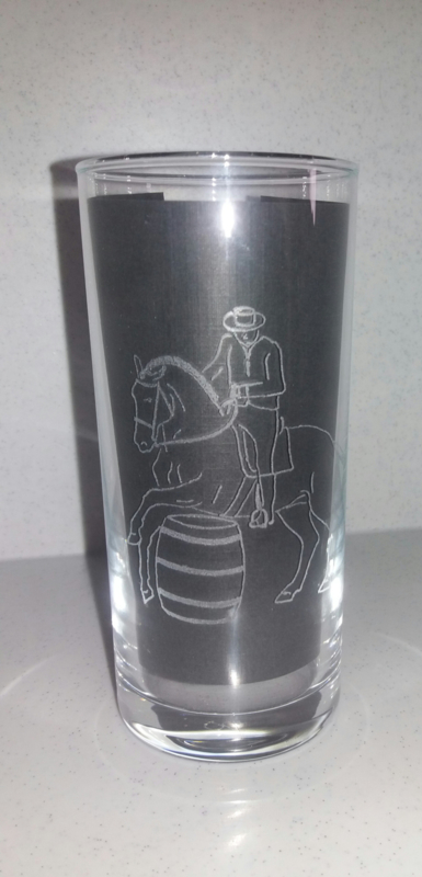 Gegraveerd longdrinkglas 'Working Equitation'