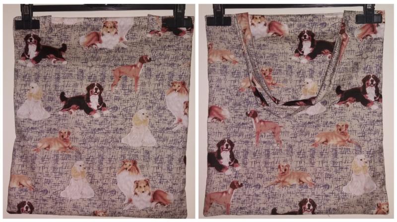Katoenen tas met honden opdruk