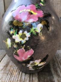 Vallauris kan lichtbruin bloemdecor