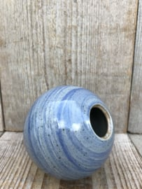 Steengoed vaasje grijsblauw