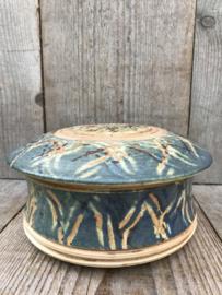 Studio keramiek dekseldoos  blauw