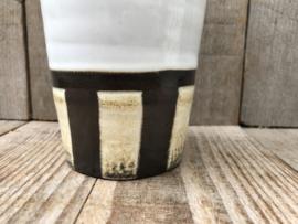 Potterij De Haemstede vaas strepen