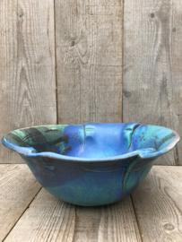 Ed Meissenberg grote schaal blauw groen