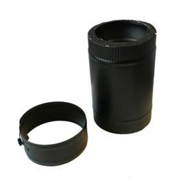 DW150/200mm pijp 30cm lengte ZWART
