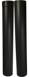 EW/Ø110mm Kachelpaspijp 105 - 195cm (zon. verjonging) Kleur: Zwart DUN800009