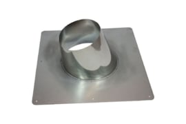 DW/200mm Dakplaat 5°- 25°graden Ø250 mm RVS
