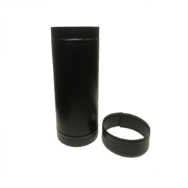 DW150/200mm pijp 50cm lengte ZWART