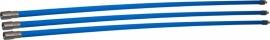 Professionele blauwe veegset 3,60m met nylonborstel 80mm