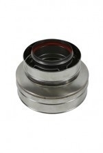 Holetherm concentrisch contra-aansluitstuk Ø130 - 200mm