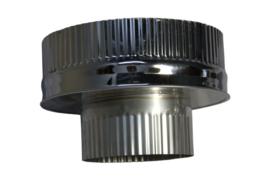 DW150/200mm  Onderaansluitstuk met krimprand