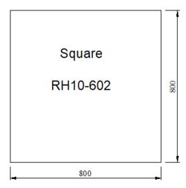Vloerplaat Glas - Helder vierkant 800x 800 x 6 mm