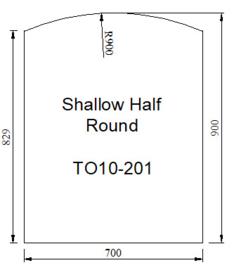 Kachelvloerplaat toog 700 x 900 x 6
