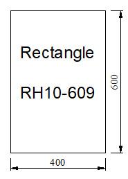 Kachelvloerplaat rechthoek 400 x 600 x 6
