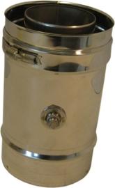 Thermovent DWL Ø100/150mm 25 cm pijp met meetpunt
