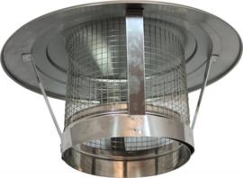 EW/Ø400mm regenkap met gaas  (MAATWERK)