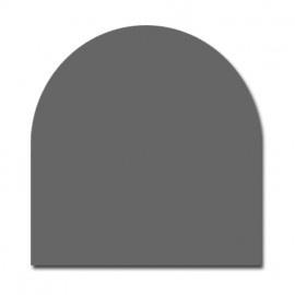 HR20-101 2 mm Halfrond staalvloerplaat  800 x 1000 antraciet