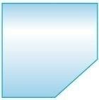 Vloerplaat Glas - Helder (Schuine kant) BxD 100 x 100 x 0,6cm