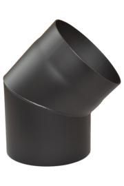 EW/150 2mm Bocht 45°graden - zonder luik (Kleur: Zwart)