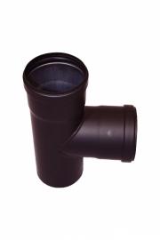 Pelletkachel T-stuk 80 mm met 2x mof ∅ 80mm