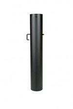 EW/150 2mm Smoorklep pijp 100cm met verjonging (Kleur: Zwart)