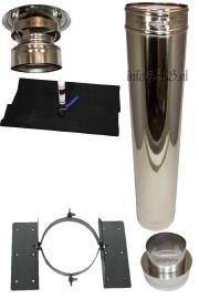 Blokhutknaller: Complete set 150 mm voor schuin dak kunststof, epdm
