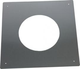Brandseparatieplaat plat Ø100|150mm rvs