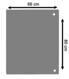 Nr 32-501 2mm Staalvloerplaat vierkant - antraciet 660 x 800