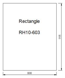 Vloerplaat Glas - Helder rechthoek 800 x 1000 x 6 mm