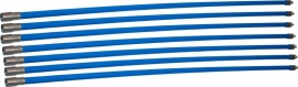 Professionele blauwe veegset 8,40m met staalborstel 250mm
