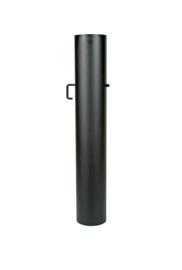 EW/120 2mm Smoorklep pijp 100cm met verjonging - Zwart