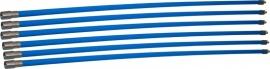 Professionele blauwe veegset 7,20m met nylonborstel 80mm