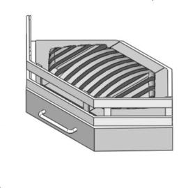 Vuurkorf modern rechtop In de Hoek/Ster 55 ( Zwart of Antraciet )