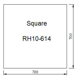 Vloerplaat Glas - Helder vierkant 700x 700 x 6 mm
