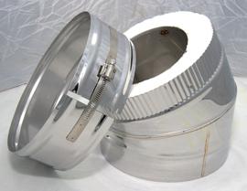 ISOTUBE Plus 5 cm isolatie DWØ150-250 Bocht 30° CAM-EX18-2