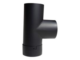 EW 160 2mm T-stuk 90°graden met dop (kleur: Zwart)