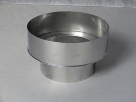 Verloopstuk RVS 78 - 125 mm
