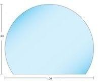 Vloerplaat Glas - Helder (Eclipsvormig) BxD 1000 x 917 x 0,6cm