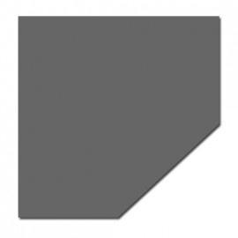 Nr 32-601 2mm Staalvloerplaat schuine kant A:1000 x B:1000 C:590 Diag 1120 antraciet