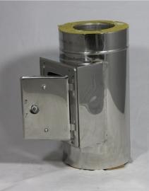 Peletpijp  DW/Ø80mm Inspectieluik
