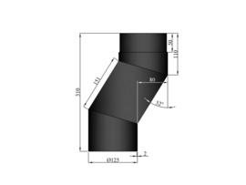 EW/125 2mm Element om kachel naar voren te halen (8cm) (Kleur: Zwart) #TER11-258
