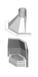 Samengestelde Haard In de Hoek/Ster 55 met vuurkorf modern rechtop