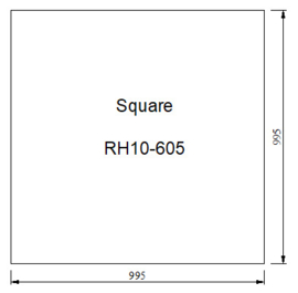 Vloerplat Glas - Helder (Vierkant) BxD 100 x 100 x 0,6cm