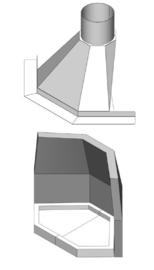 Samengestelde Haard In de Hoek/Ster 55 met stookstenen