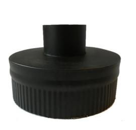 DW80/130mm Onderaansluitstuk met krimprand  Zwart