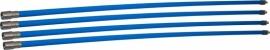 Professionele blauwe veegset 4,80m met nylonborstel 150mm