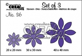 Crealies Dies Set of 3 - No. 36  Bloemen